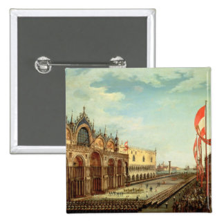 The Return of the St. Mark Troops to Venice Pinback Buttons