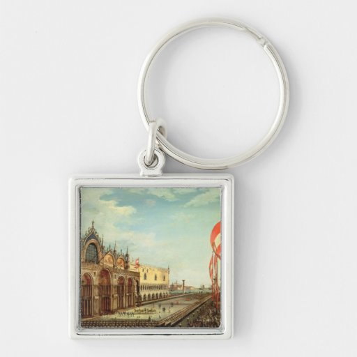 The Return of the St. Mark Troops to Venice Keychain