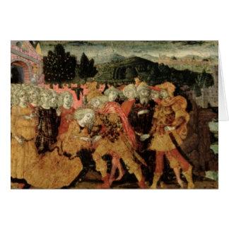 The Return of Ulysses, cassone panel, Sienese Greeting Card