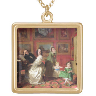 The Rev. and Mrs Palmer-Lovell with their daughter Gold Plated Necklace