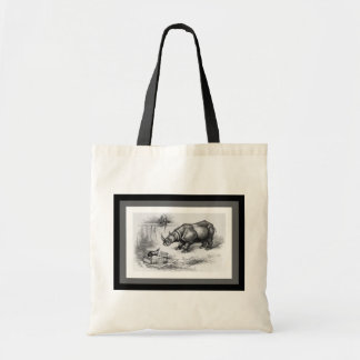 The Rhino and the Badger Budget Tote Bag