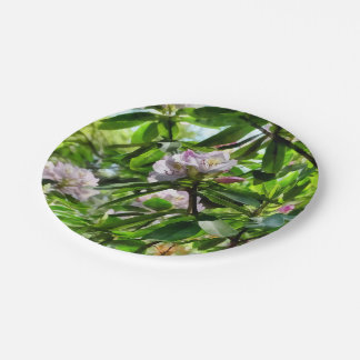 The Rhododendrons Are In Bloom Paper Plate