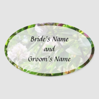 The Rhododendrons Are In Bloom Save the Date Oval Sticker