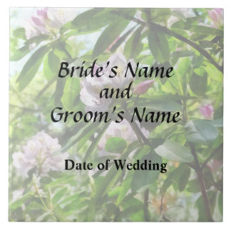The Rhododendrons Are In Bloom Wedding Products Tile