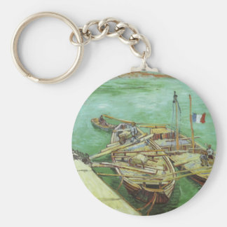 The Rhone Barges Basic Round Button Key Ring