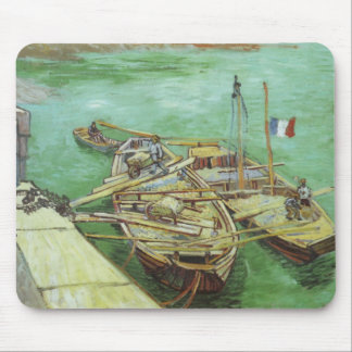 The Rhone Barges Mousepad