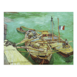 The Rhone Barges Postcard