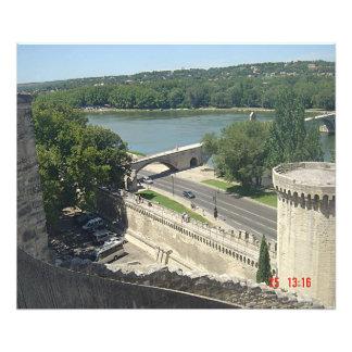 The Rhone seen of the ramparts of Avignon Photo Art