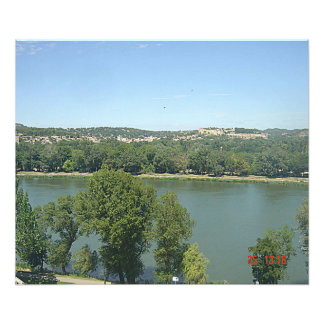 The Rhone seen of the ramparts of Avignon Photographic Print