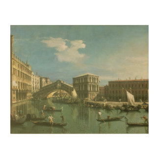The Rialto Bridge, Venice 2 Wood Print