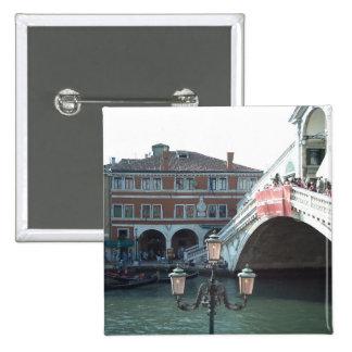 The Rialto Bridge,Venice 15 Cm Square Badge