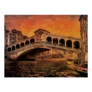The Rialto Bridge Venice Italy Poster