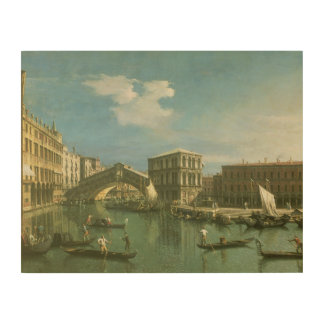 The Rialto Bridge, Venice Wood Canvases