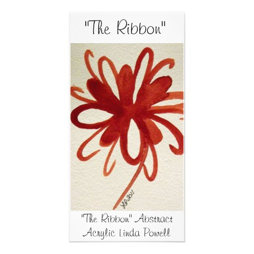 """The Ribbon"" Abstract Acrylic Linda Powell Photo Card Template"