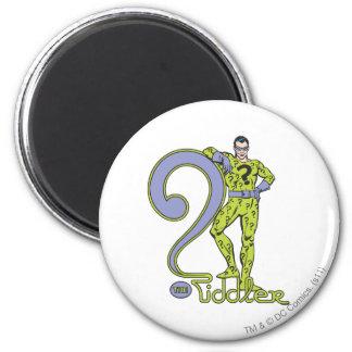 The Riddler & Logo Green Fridge Magnet