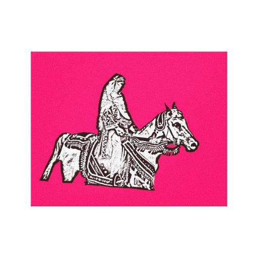 The Rider Popart Canvas Print