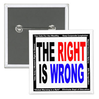 The Right Is Wrong 15 Cm Square Badge