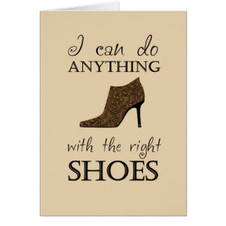 The Right Shoes Greeting Card