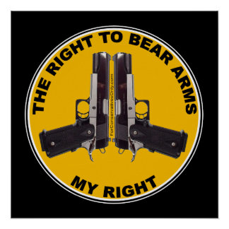 The Right to Bear Arms - My Right Poster
