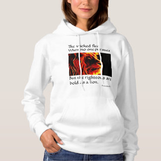 The righteous is bold as a lion hoodie. hoodie