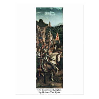 The Righteous Knights By Hubert Van Eyck Postcards