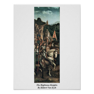 The Righteous Knights By Hubert Van Eyck Posters