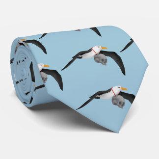 The Rime of the Ancient Mariner Albatross Skull Tie