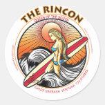 THE RINCON CALIFORNIA SURFING ROUND STICKER