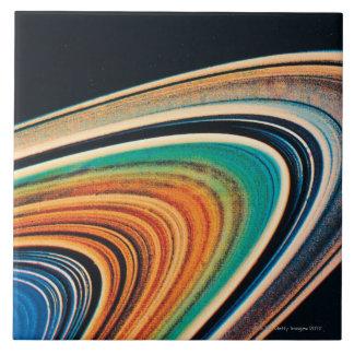 The Rings of Saturn Ceramic Tile