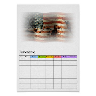 The Rise of a Nation / Timetable Print