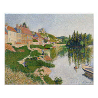 The River Bank, Petit-Andely, 1886 Print