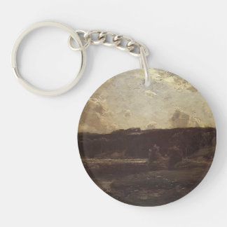 The River Bend by Julian Alden Weir Acrylic Keychain