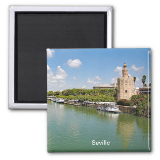 The river Guadalquivir and the Golden Tower. Magnet
