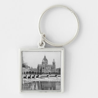 The river Isar at Munich, c.1910 Key Chains