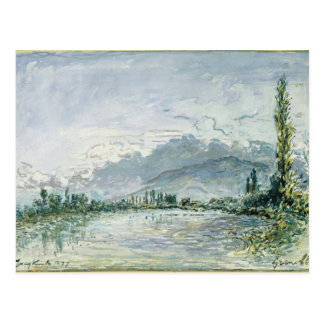 The River Isere at Grenoble, 1877 Postcard
