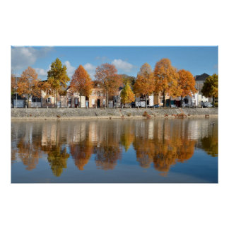 The river Mayenne at Laval in France Poster