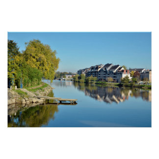 The river Mayenne at Laval in France Posters
