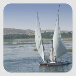 The River Nile and sailing boats used as Square Sticker