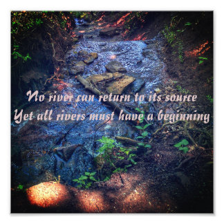 The River Quote Print
