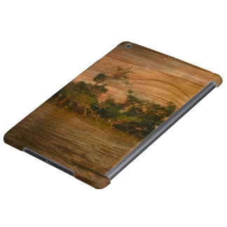 the river, wooden art iPad air covers