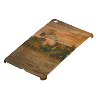 the river, wooden art case for the iPad mini