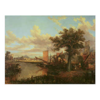 The River Yare with a distant view of Norwich Postcard