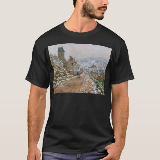 The Road in Vetheuil in Winter by Claude Monet T-Shirt