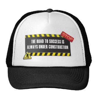 The road is under construction hats