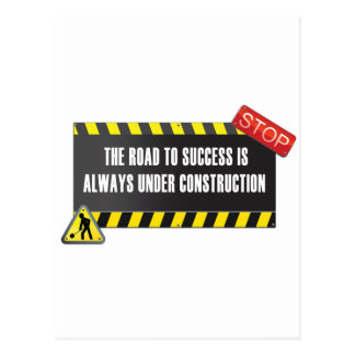 The road is under construction postcard