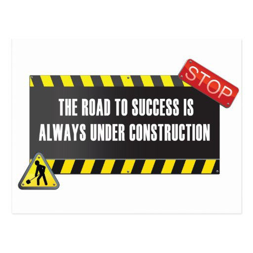 The road is under construction post cards