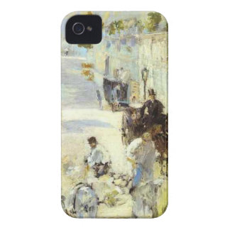 The road-menders, Rue de Berne by Edouard Manet iPhone 4 Case-Mate Cases
