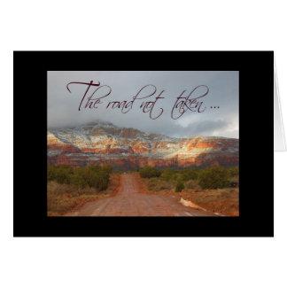 The road not taken notecard