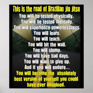 The Road of Brazilian Jiu Jitsu Poster