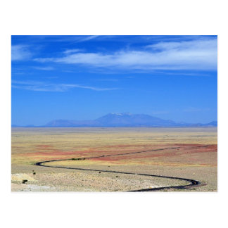 The Road To Meteor Crater Postcard